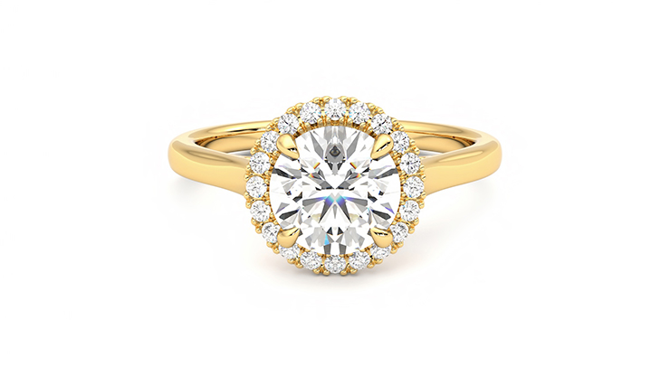 Taylor & Hart Adore Round Engagement Ring 360 detail 01