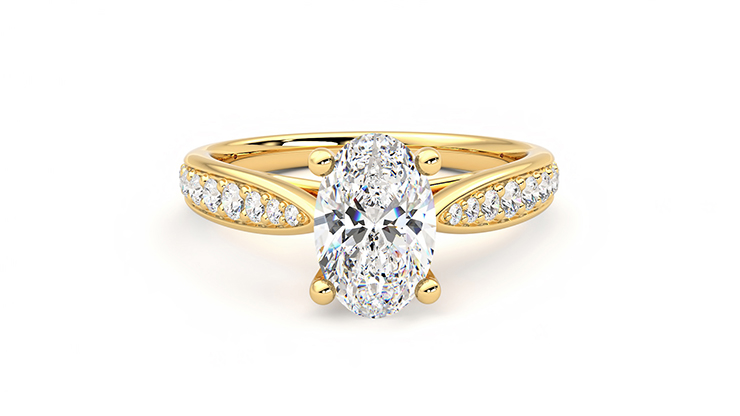 Taylor & Hart Aria Oval Engagement Ring 360 detail 01
