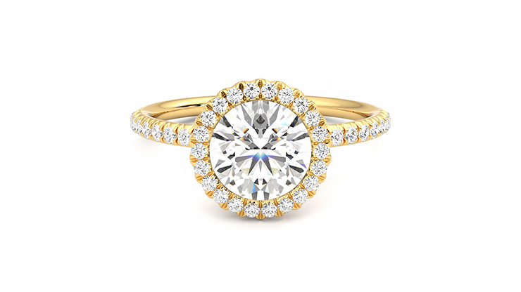 Taylor & Hart Cinnamon Round Engagement Ring 360 detail 01