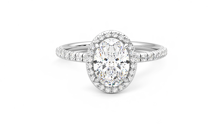 Taylor & Hart Dawn Oval Engagement Ring 360 detail 01