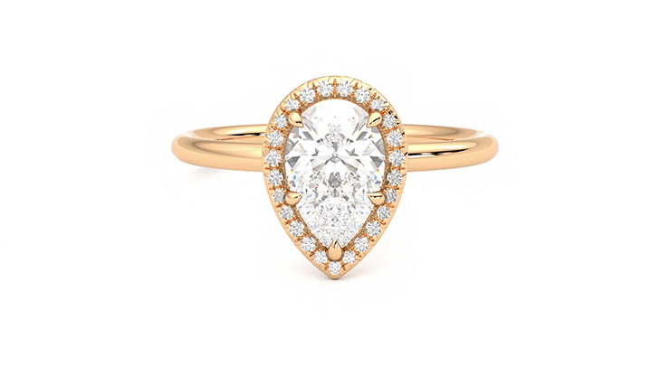 Taylor & Hart Dove Pear Engagement Ring 360 detail 01
