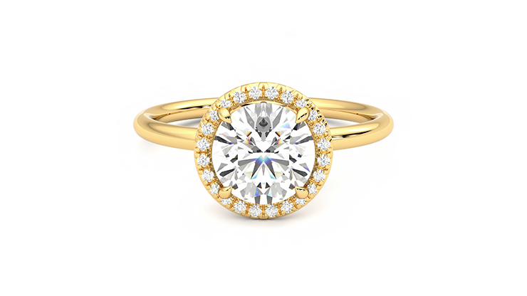 Taylor & Hart Dove Round Engagement Ring 360 detail 01