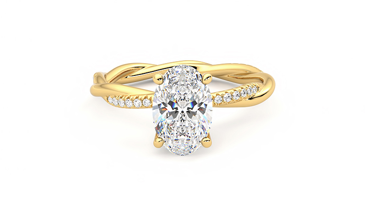 Taylor & Hart Enamour Oval Engagement Ring 360 detail 01