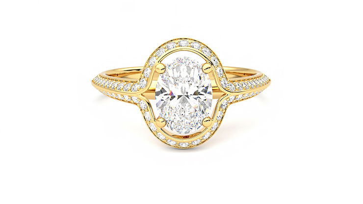 Taylor & Hart Ethereal Oval Engagement Ring 360 detail 01