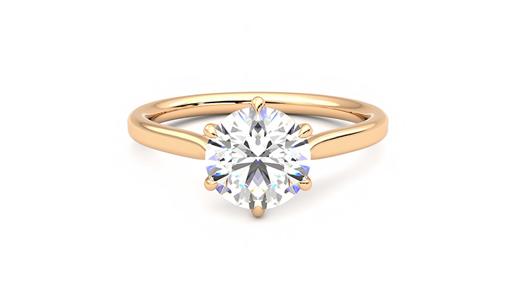 Taylor & Hart Eve Round Engagement Ring 360 detail 01