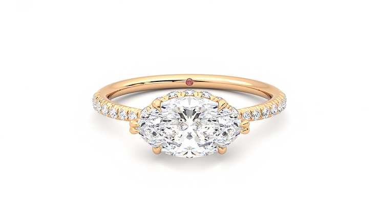 Taylor & Hart Nutmeg Marquise Engagement Ring 360 detail 01