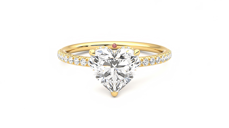 Taylor & Hart Thyme Heart Engagement Ring 360 detail 01