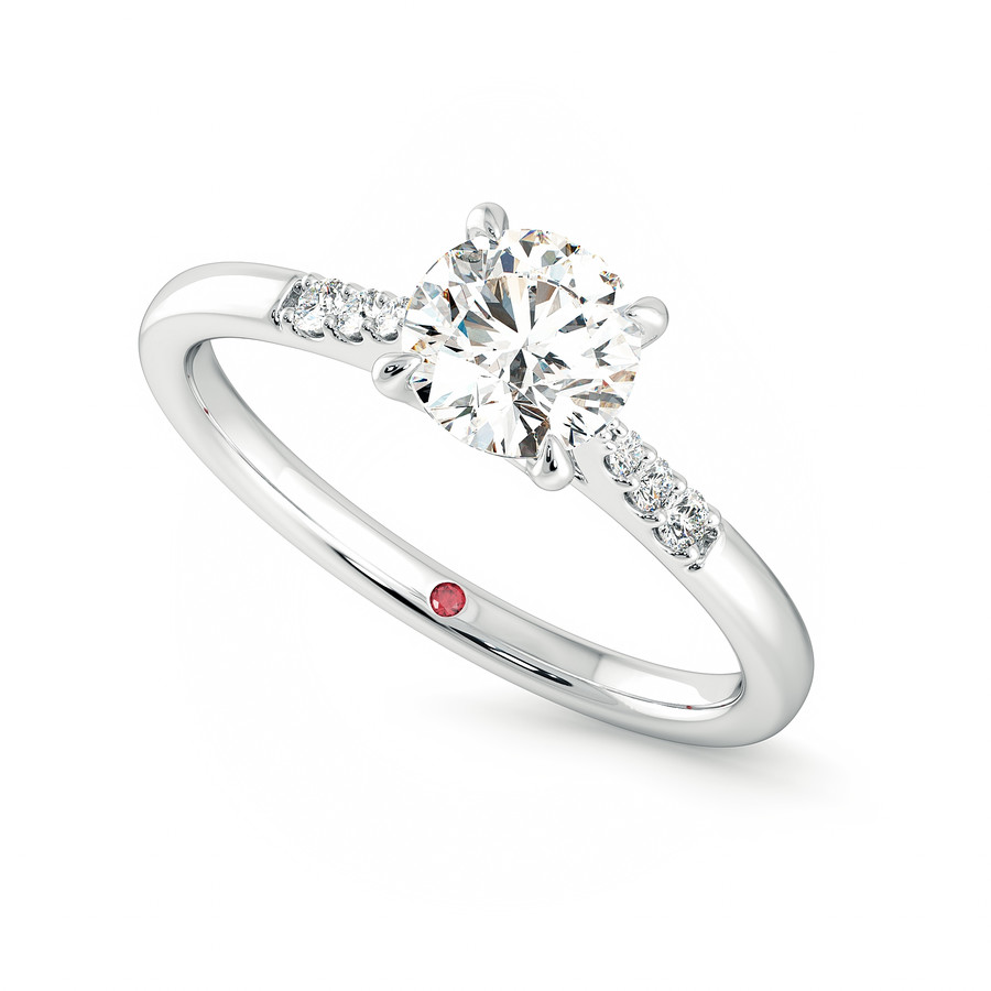 Lissome Ring - 0.70ct Round Diamond